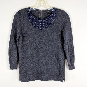 J. Crew | Gray Wool Sweater - H11